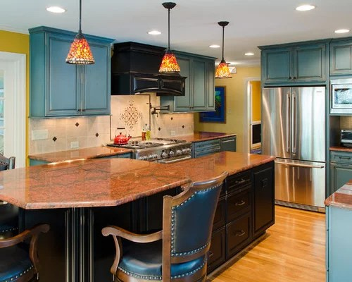 Turquoise Cabinets  Houzz