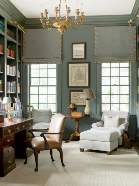 green home office Best Dark Green Home Office Design Ideas & Remodel Pictures | Houzz