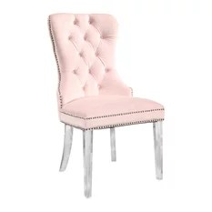 pink dining room chairs chair design wood 50 most popular for 2019 houzz abbyson living andre tufted velvet with acrylic legs