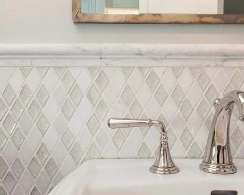 Chair Rail Tile Design Ideas & Remodel Pictures