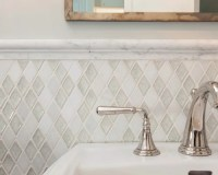 Chair Rail Tile Design Ideas & Remodel Pictures