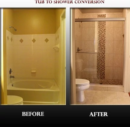 Tub To Shower Conversion Home Design Ideas Pictures