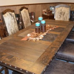 Dining Table Set 6 Chairs Low Beach Western Hacienda Room