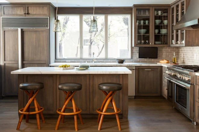 Transitional Kitchen by Wick Design