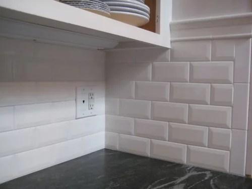 beveled edge or regular edge subway tile