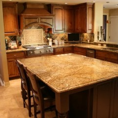 Arts And Crafts Kitchen Cabinets Linen Copper Canyon Granite | Houzz