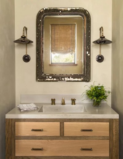 Farmhouse Powder Room by Jute Interior Design