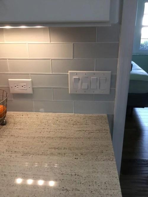 Kitchen Backsplash Outlets : kitchen, backsplash, outlets, Outlet, Cover, Plates, Glass, Backsplash.