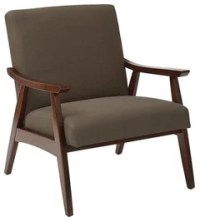 Pierce Mid-Century Modern Brown Faux Leather Lounge Chair ...