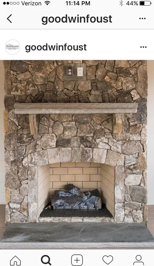 stone brick or shiplap for fireplace