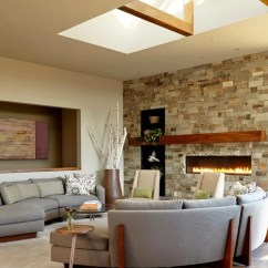 How To Design Living Room With Fireplace And Tv My Is Too Dark Linear Home Ideas, Pictures, Remodel ...