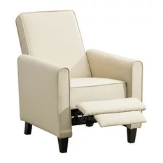 reclining club chair grey tufted 50 most popular recliner chairs for 2019 houzz belleze contemporary beige