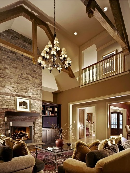 Warm Living Room  Houzz