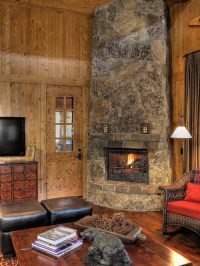 Corner Stone Fireplace | Houzz