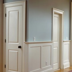 Picture Frame Moulding Below Chair Rail Swing For Office Flat Panel Wainscoting Design Ideas & Remodel Pictures | Houzz