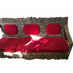 Mogul interior - Consigned Indian Rosewood Red Padded Sofa Set Sofa Table - This is a really unique Furniture Mughal Inspired Furniture Red Sofa