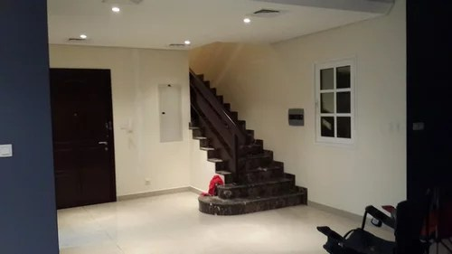 open plan staircase in living room cheap sets should i extend paint into foyer stairs
