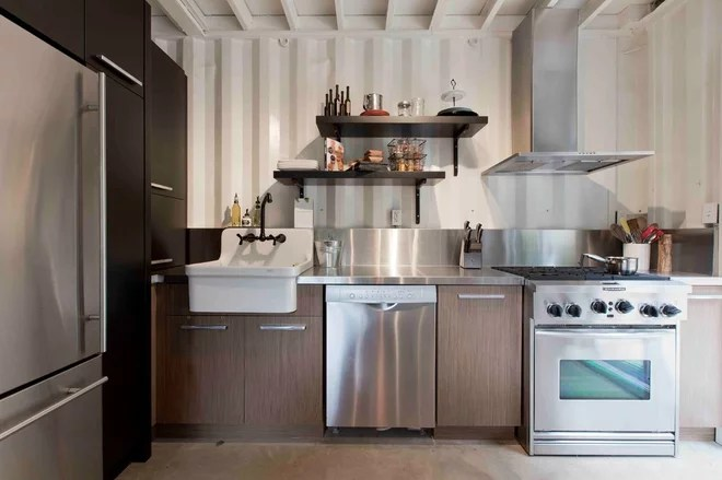 Industrial Kitchen by Les Collections Dubreuil