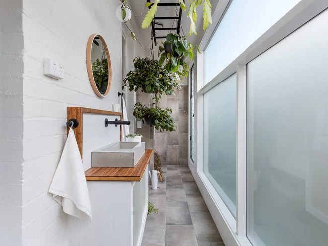 Transitional Bathroom by Aspect 11