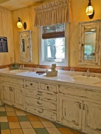 Distressed White Cabinets | Houzz