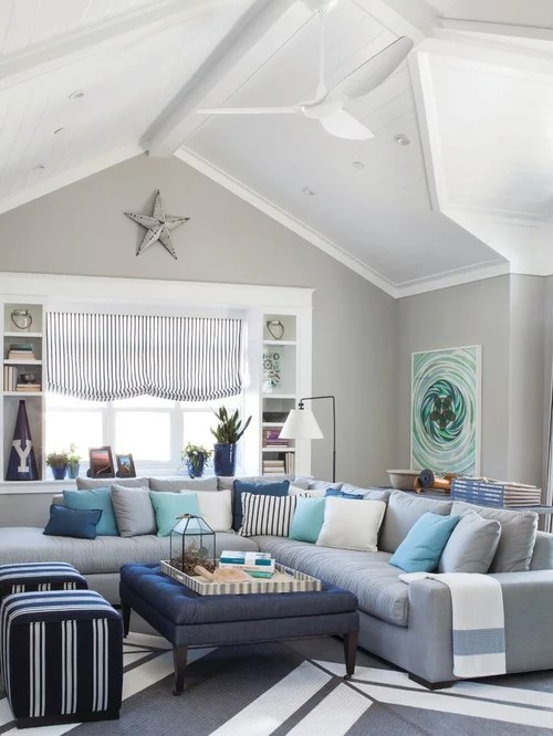 Beach Style Living Room Design Ideas Remodels  Photos  Houzz