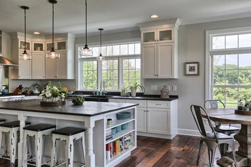 can lighting vs fixture over kitchen table