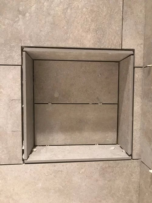 shower niche i wanted clean edges with