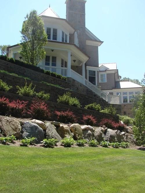 steep sloped lot driveway