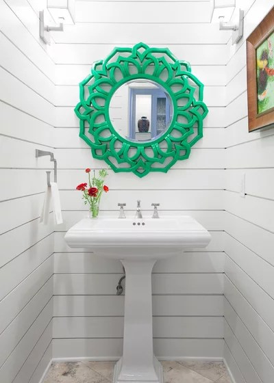Beach Style Powder Room by Casey St. John Interiors