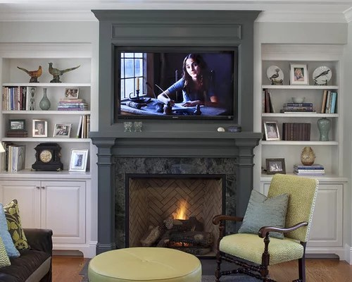 How To Hide Cords On Wall Mounted Tv Above Brick Fireplace