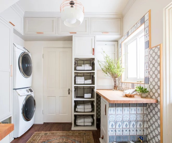 Farmhouse Laundry Room by STEFANI STEIN