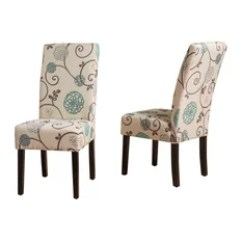 Houzz Dining Chairs Contemporary Svan High Chair 50 Most Popular Room For 2019 Gdfstudio Percival White And Blue Floral Fabric Set Of 2