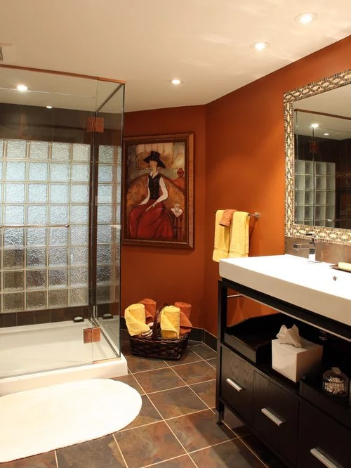paint color ideas living room accent wall electric fireplace burnt orange walls | houzz