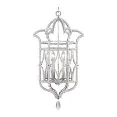 Fine Art Lamps Prussian Neoclassic Silver 6 Light Chandelier Chandeliers