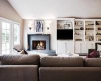 Off Center Fireplace | Houzz
