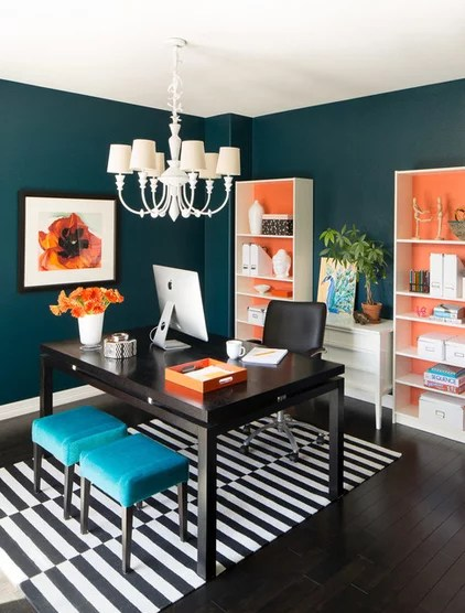 Transitional Home Office by Iba Design Associates