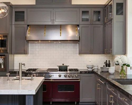 Gray cabinets with dark countertops - Kitchen appliances san francisco ...