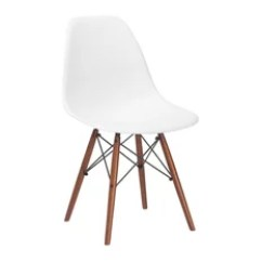 Houzz Dining Chairs Contemporary Folding In Bags 50 Most Popular Modern Room For 2019 Edgemod Furniture Vortex Side Chair Walnut Legs White Set Of 4