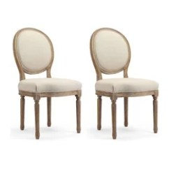 Oval Back Dining Room Chairs Chair Covers For Hire In Leicester 50 Most Popular 2019 Houzz 1st Avenue Darcy French Style Set Of 2 Graywash