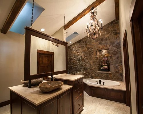 stone bathroom sink | houzz