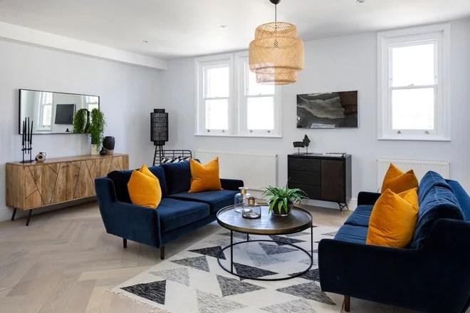 Contemporary Living Room by Burbeck Interiors ltd