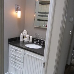 Country Kitchen Sink Triangle Table Small Modern Bathroom | Houzz