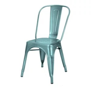 blue bistro chairs dining chair covers online india 2018 sale adeco glossy light tolix style metal set of 2 by