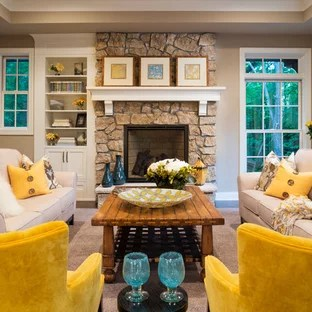 teal accents living room colors for walls 2017 beige with accent ideas photos houzz inspiration a mid sized timeless formal and open concept carpeted floor