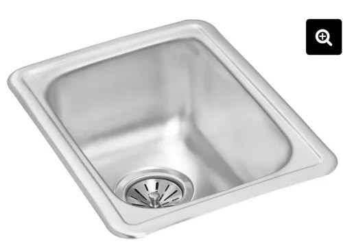 bar sink with without faucet holes