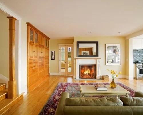 modern living room with dark wood floors size of a honey oak trim | houzz