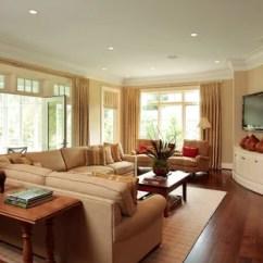 Corner Tv Living Room Ideas Simple Design In Nigeria Family Photos Houzz Example Of A Classic Medium Tone Wood Floor Cincinnati With Beige Walls