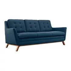 contemporary fabric sofas carved sofa set bangalore houzz modway modern azure