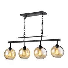 kitchen island lighting builders surplus & bath cabinets 50 most popular lights for 2019 houzz edvivi llc 4 light antique black linear chandelier with amber glass sconces