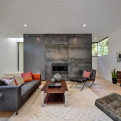 Living Rooms With Dark Grey Feature Walls Camo Room Wall Ideas And Photos Houzz This Is An Example Of A Contemporary Family Games In Austin White